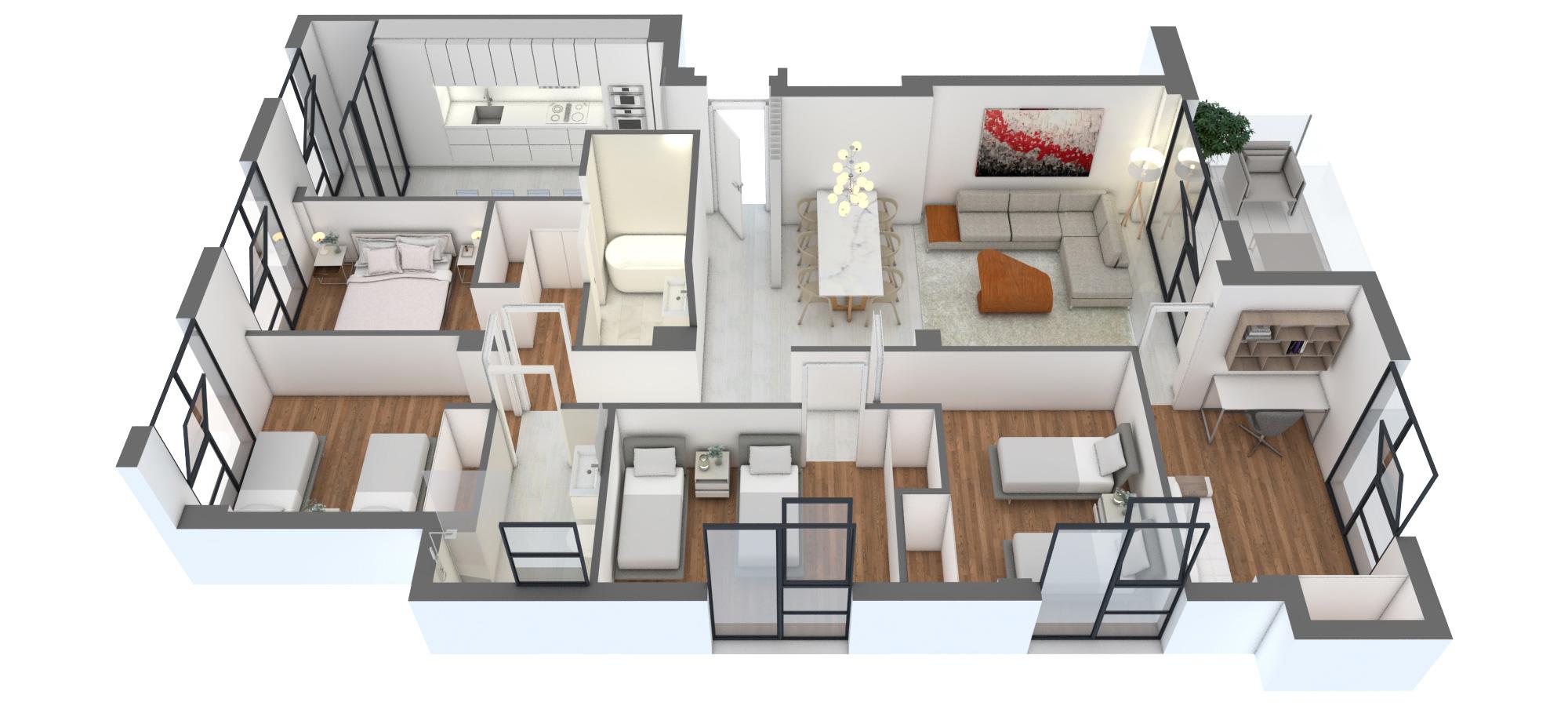 Edificio Puerta-de-Valencia-Vivienda-4-dormitorios